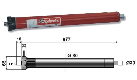 Motorizzare Tende Da Sole.43320 002 Motore Tubolare Aprimatic 59s 100 100nm Per Tapparelle E
