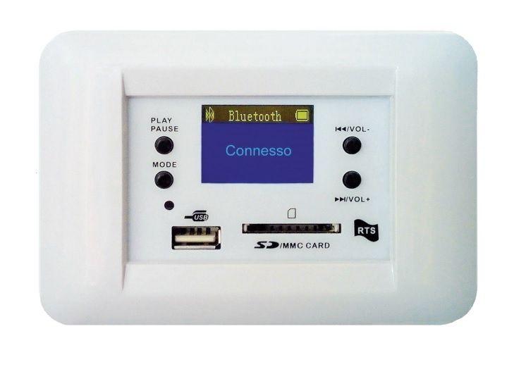Centrale audio rts ts 710 b 30 30w stereo per filodiffusione da incasso bianco - Impianto stereo per casa ...