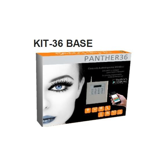 KIT ANTIFURTO SISTEMA DI ANTINTRUSIONE WIRELESS KIT PANTHER 36 BASE MICROVIDEO